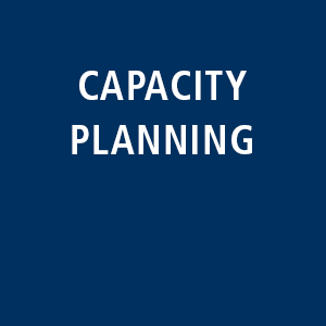Capacity planning: Analysis and continuous alkignment of capacity requirements and offers.