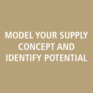 model your supply concept and identify potential